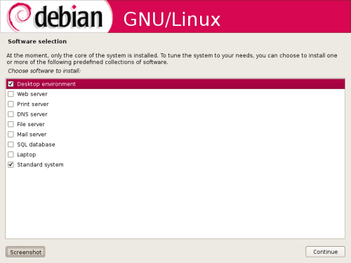 Selecting software for my Debian box.