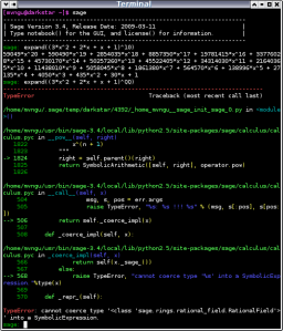 Figure 2: Command line session with dark background.